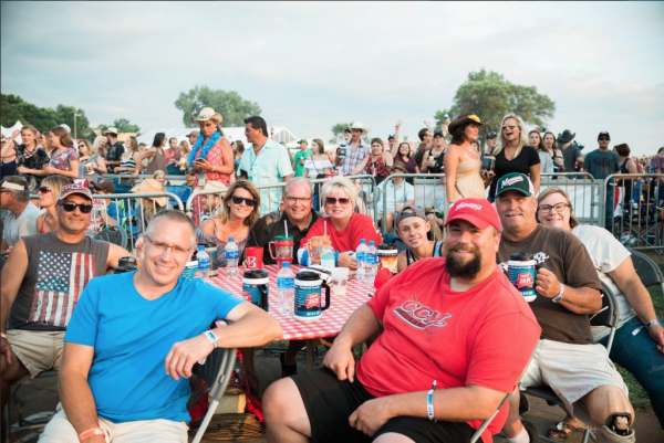 Country Jam guests sitting at table