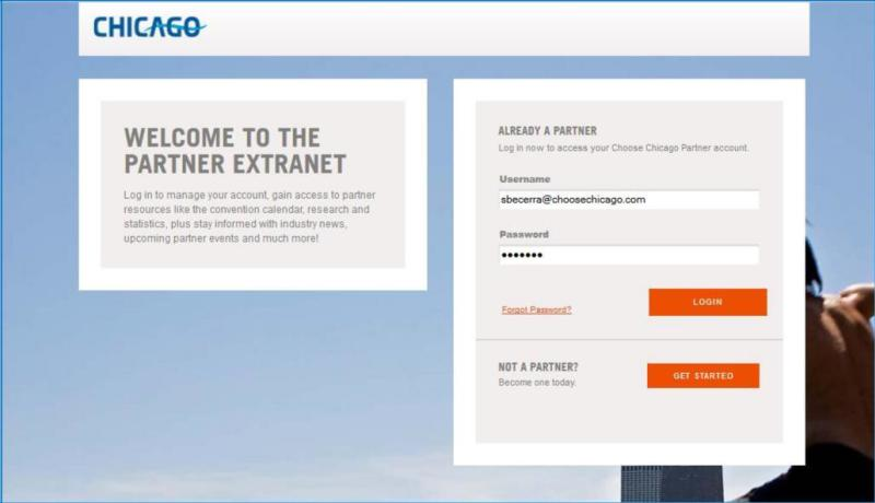 Extranet - Login page