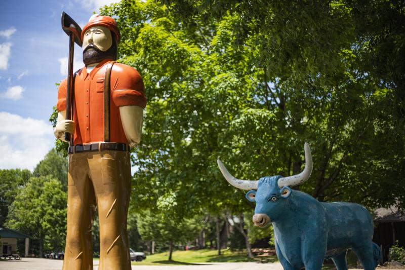 Wisconsin Logging Camp featuring Paul Bunyan at Carson Park