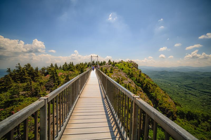Grandfather Mountain Bridge Perspective