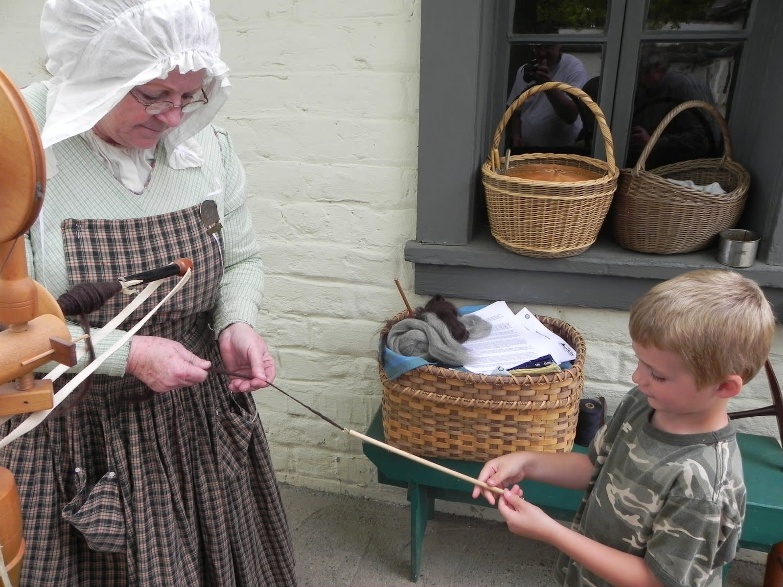 Living history and hands-on demonstrations make Sutter's Fort a popular youth / student tourist attraction in Sacramento, California.