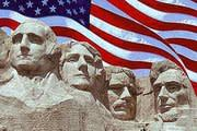 Mount Rushmore with American Flag: Presidents' Day Events in Sacramento