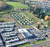 Aerial of Guaranty Travel Center & RV Park