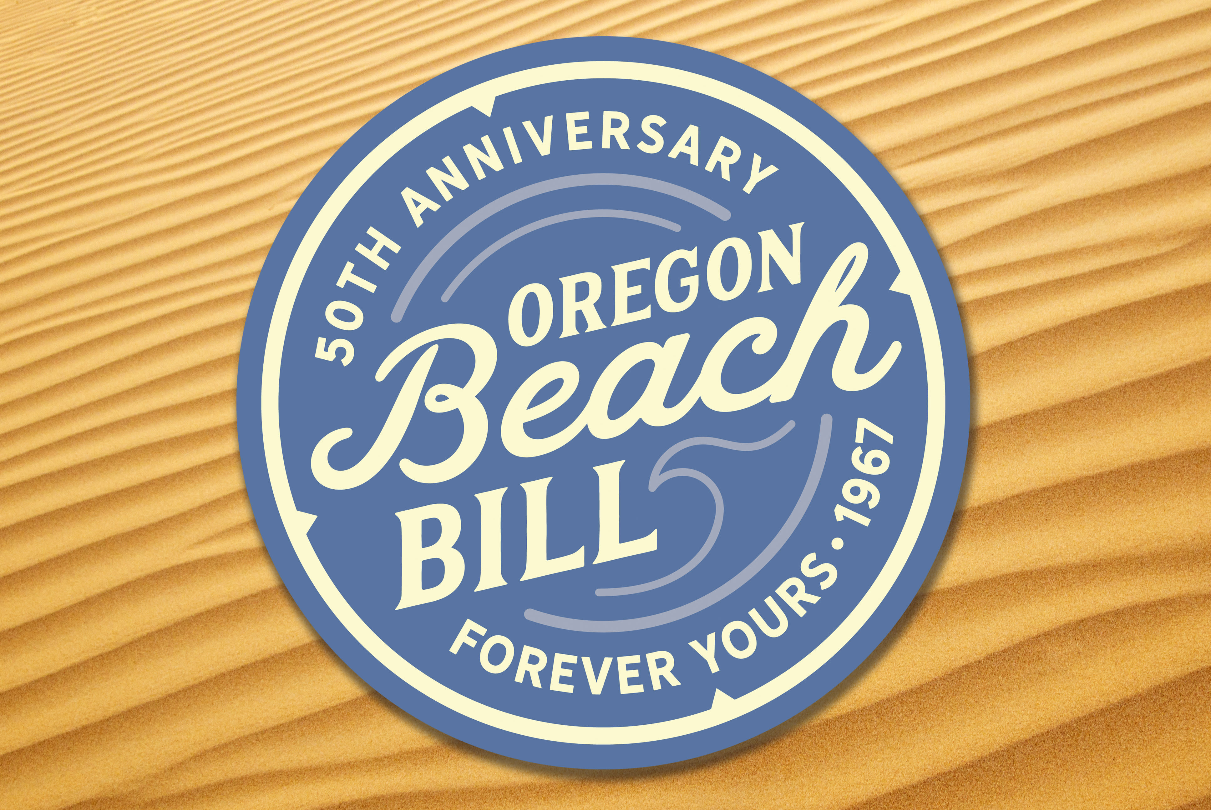 Beach Bill Anniversary Logo