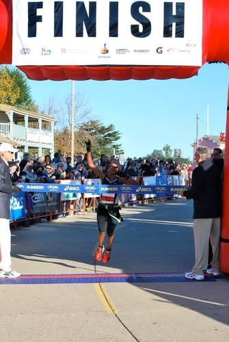Mary Akor wins the women's division