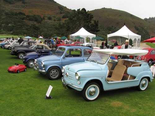 Fiat Row headed by 1960 Fiat Jolly
