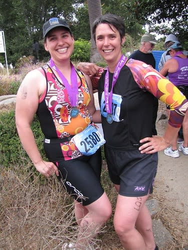 Two happy finishers