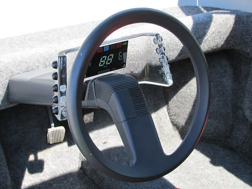 Steering and instrument panel: Early minivan prototype by Hal Sperling