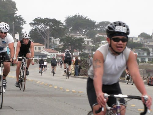 Biking portion of the Pacific Grove Triathlon