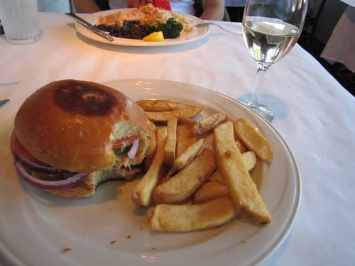 The crab burger at the Fishwife