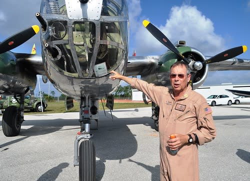 Larry Kelley, Owner of Panchito, a B-25 Mitchell Bomber from WWII, DAV Flight Team