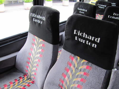 High back chairs in Monterey Movie Tours Bus