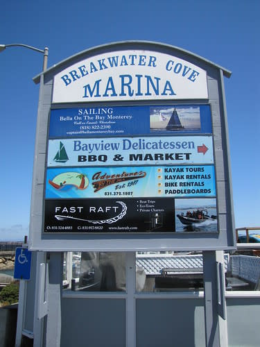 Fast Raft Boat Tours is located on the Coast Guard Pier in Monterey, CA