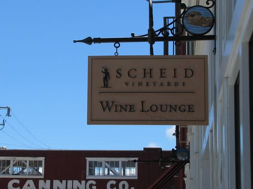 Scheid Vineyards Wine Lounge sign