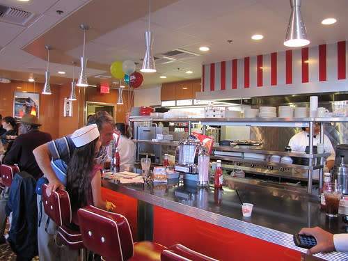 Interior of Johnny Rockets on Cannery Row