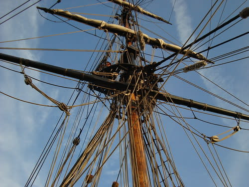 Mast of the Lady Washington