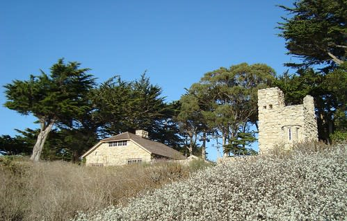 Front view of Robinson Jeffers' Tor House & Hawk Tower