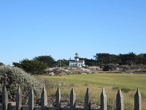 Point Pinos Lighthouse view from Ocean View Blvd.