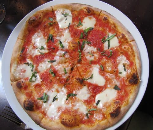 Margherita Pizza with fresh Parmesan cheese