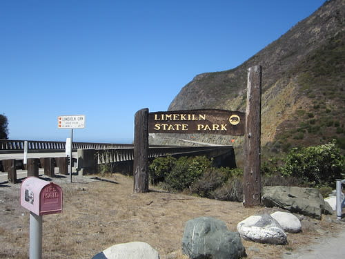 Limekiln State Park off of highway one