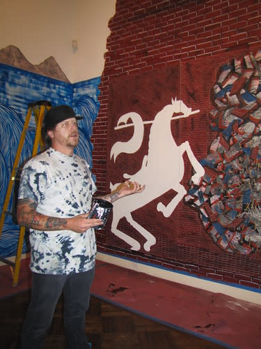Andrew Schoultz talks about his artwork