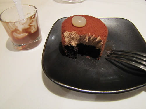 Chocolate Mousse and Cake at Aubergine- The Restaurant at L'Auberge Carmel