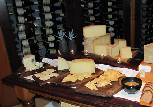 Cheese in the Wine Cellar at Aubergine- The Restaurant at L'Auberge Carmel