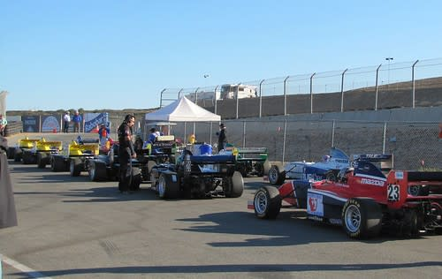Warming Up for Practice Round for Star Mazda