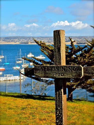 historic grave:  first European to be buried in Monterey 1770