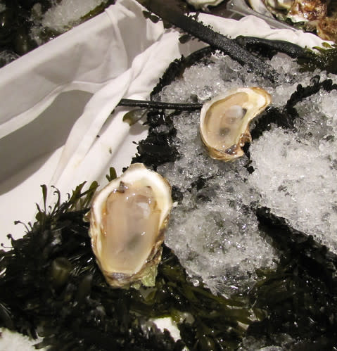 Oysters at Aubergine- The Restaurant at L'Auberge Carmel