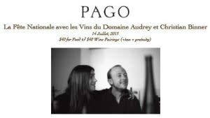 Pago Bastille Day Dinner