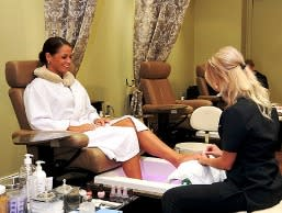 A pedicure at the Woodhouse Day Spa