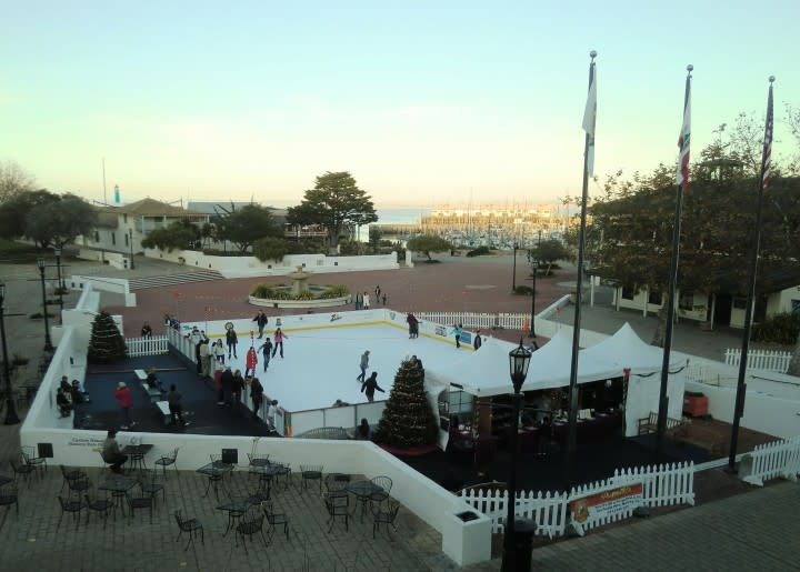 Ice Skating by the Bay (photo taken by Portola Hotel & Spa)