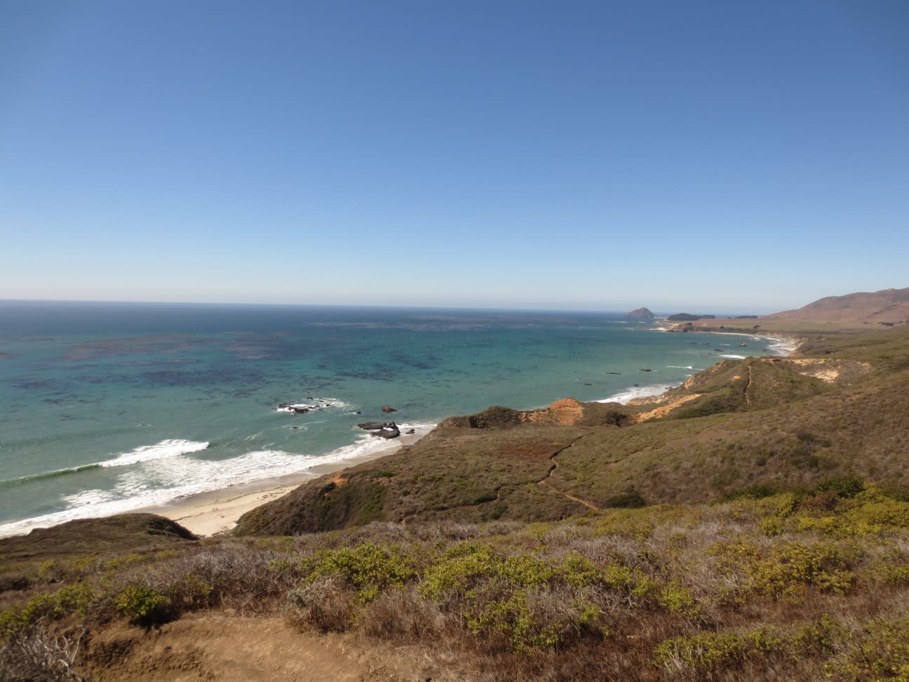 The view from Andrew Molera State park, one of the many beautiful beach stops that can be made along the Pacific Coast Highway in Big Sur.