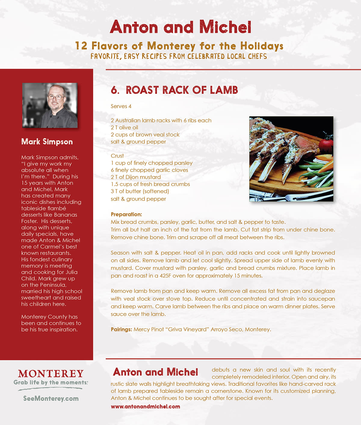 12 Flavors of Monterey- Day 6: Anton & Michel