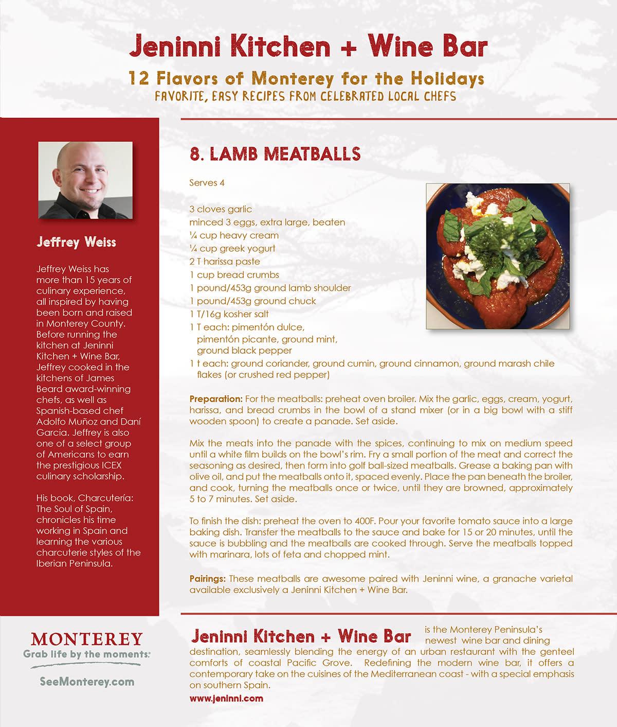 12 Flavors of Monterey- Day 8: jeninni kitchen + wine bar