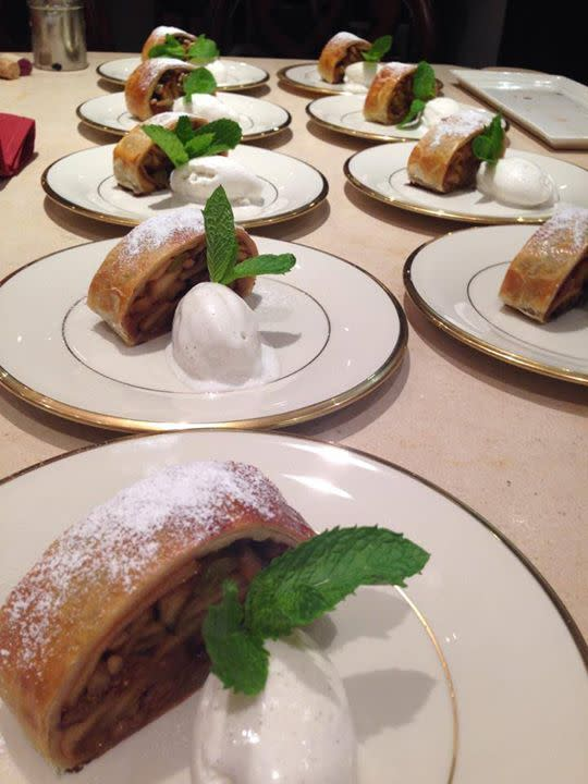 Apple Strudel at Basil Carmel