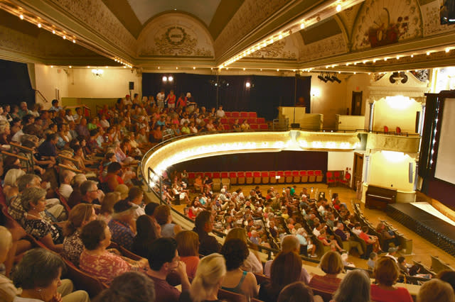A Traverse City Film Festival crowd in the City Opera House.