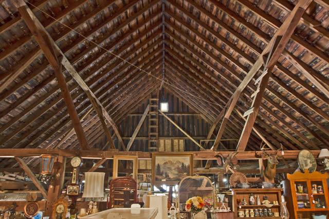 Love the Barn Ceiling Beams at Rolling Hills!