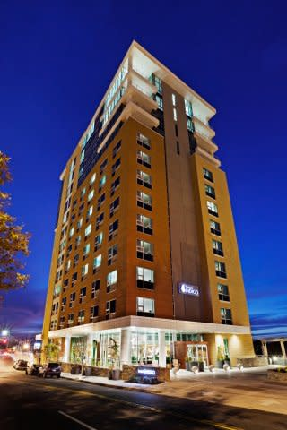Hotel Indigo, in the heart of downtown Asheville.