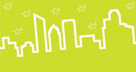 Grand Rapids city skyline graphic