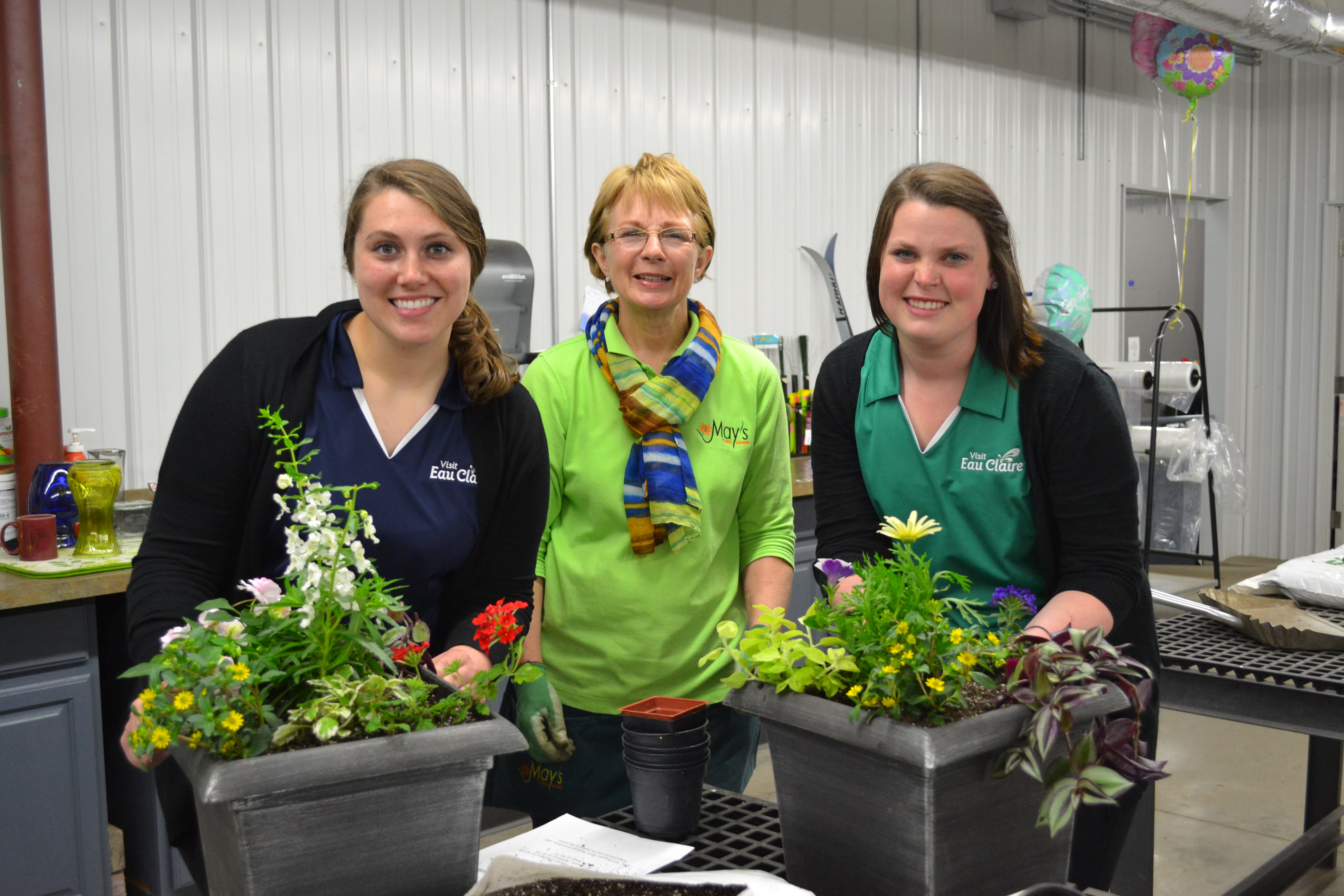 May's Floral Instructor with Fun Patrol- photo by: Katie Lindquist