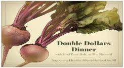 Double Dollars Dinner Poster