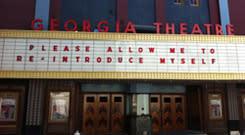 Georgia Theatre marquee