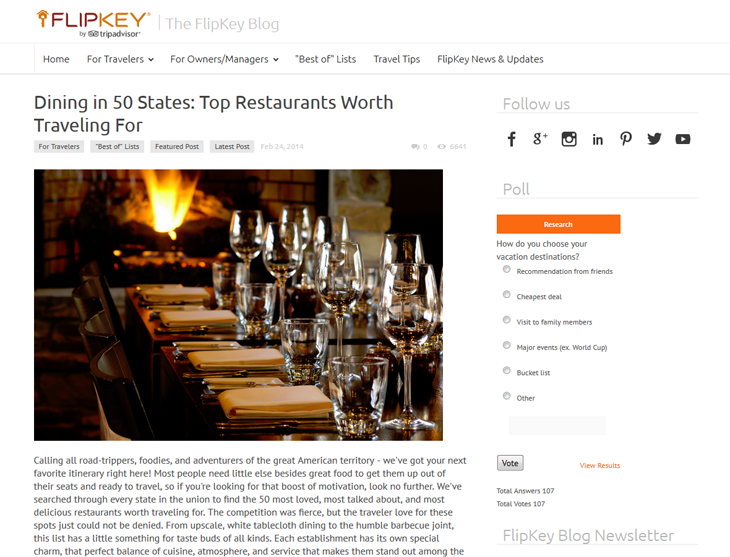 Dining in 50 States