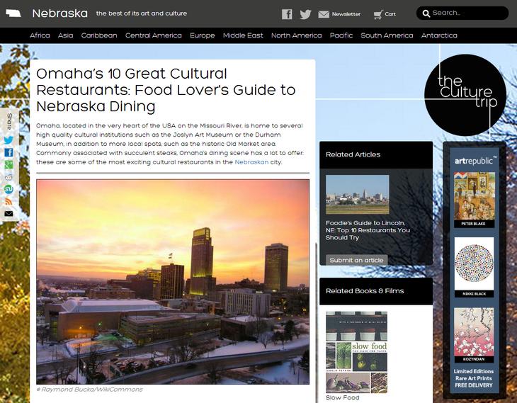 Omaha's 10 Great Cultural Restaurants