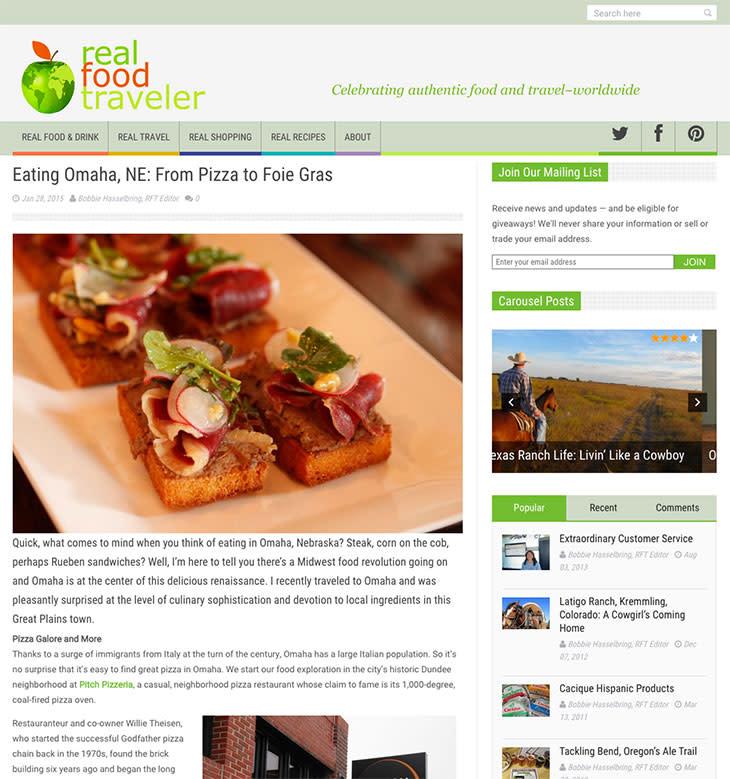 Eating Omaha - Real Food Traveler