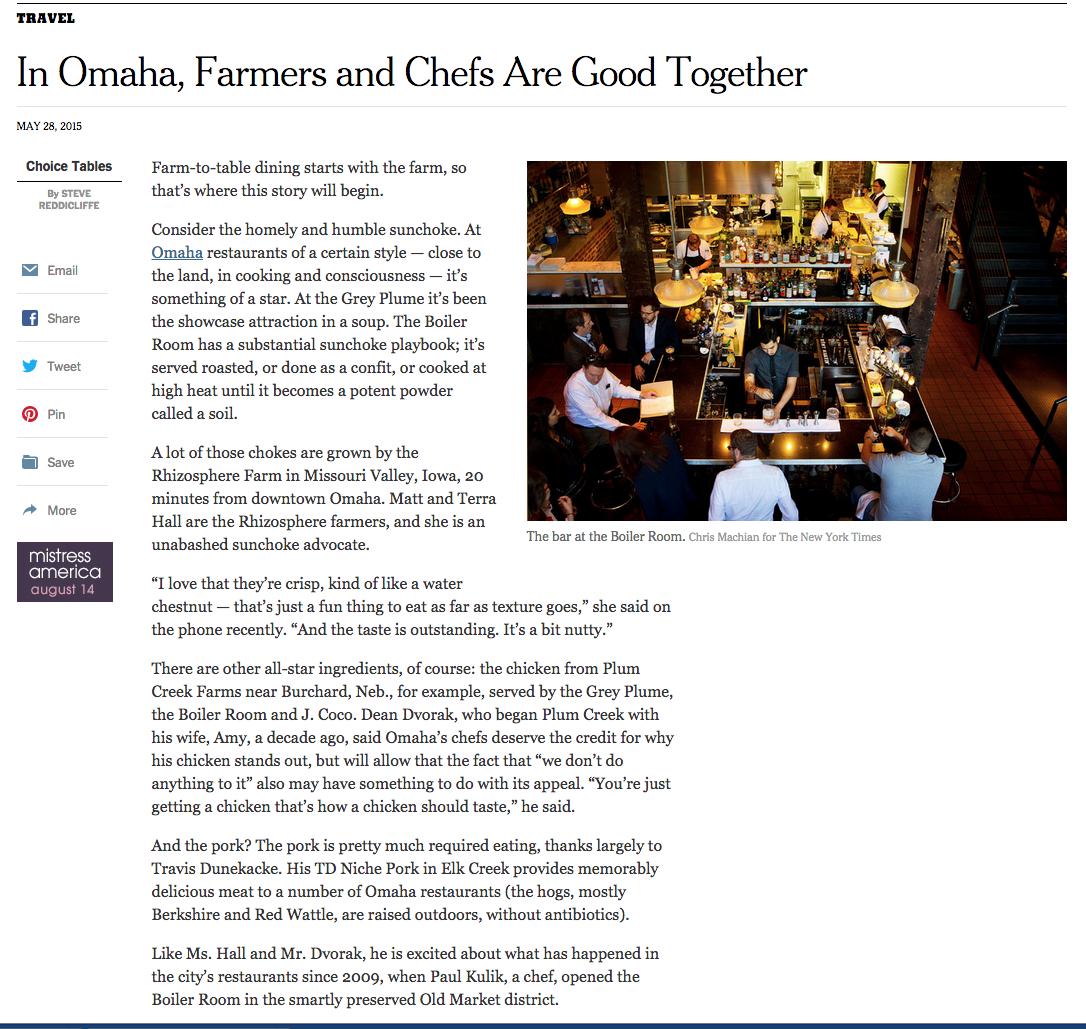 NYTimes Omaha food article