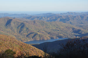 North Fork Reservoir in Fall