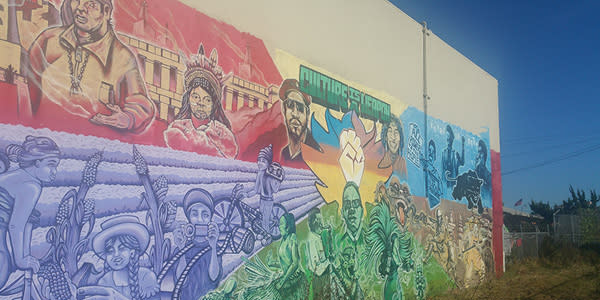 Fruitvale Culture is a Weapon Mural on E 12th and 23 streets